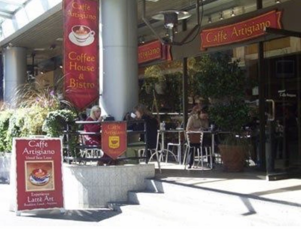 カナダで働いていたカフェ